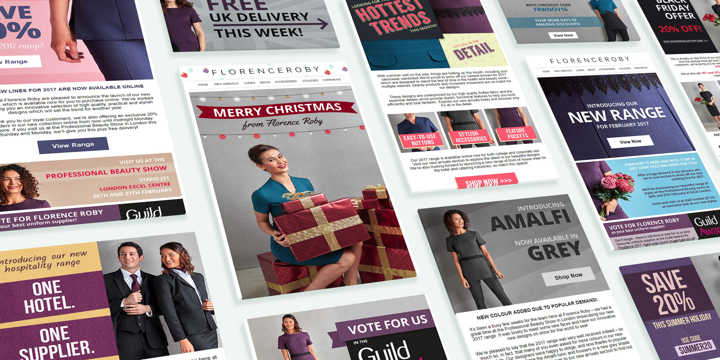 Email designs for Florence Roby